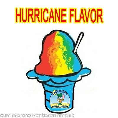 Hurricane Syrup Mix Shaved Ice Snow Cone Flavor Gallon Concentrate 1