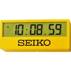 Seiko Digital Desk Clock QHL073Y NEW