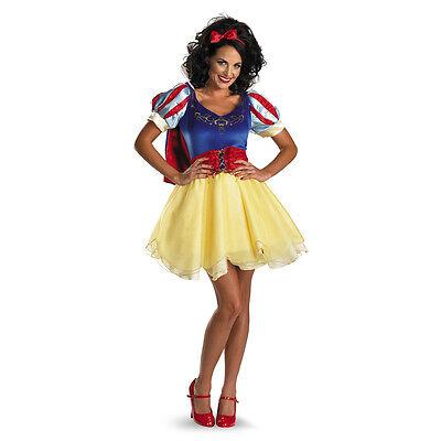 Snow White Sassy Deluxe Prestige Teen Adult Disney Costume | Disguise 50492 (Snow White Deluxe Adult Costume)