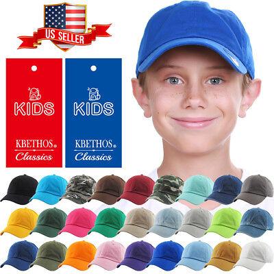 Youth Adjustable Hat - Junior Youth Kid Size Cotton Dad Hat Adjustable Baseball Cap