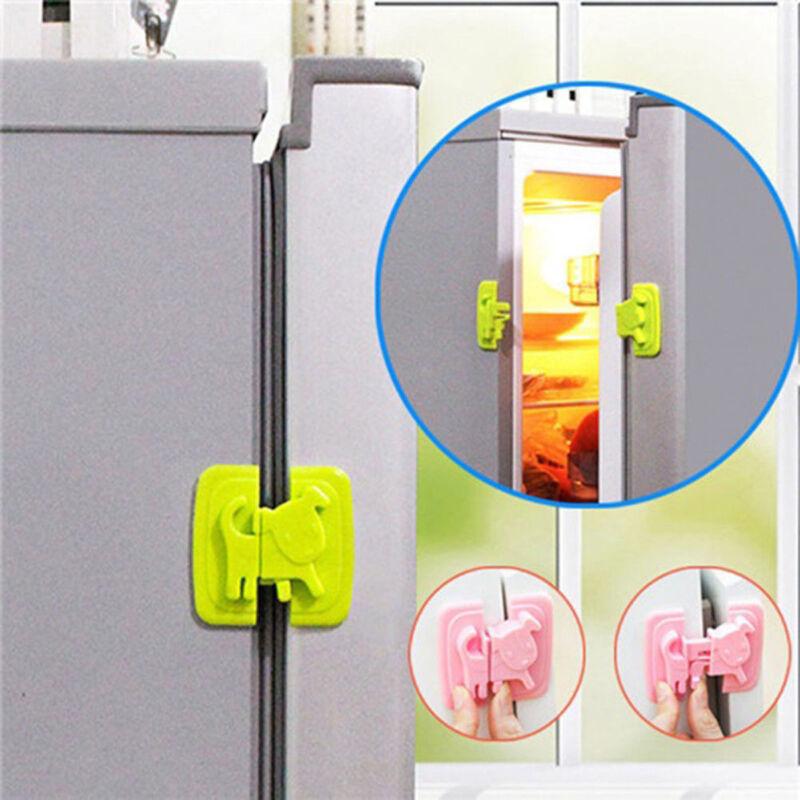 Adhesive Baby Child Kids Safety Proof Cabinet Door Fridge Drawer Cupboard Locks