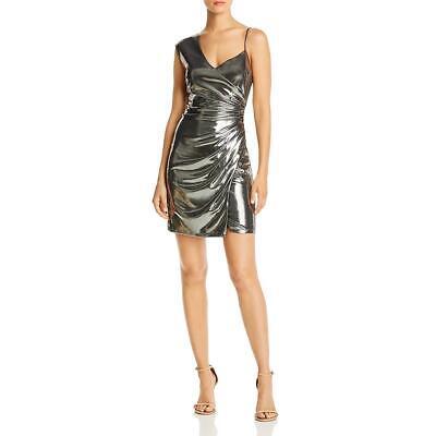 BCBG Max Azria Womens Metallic Mini Party Cocktail Dress BHFO 6332