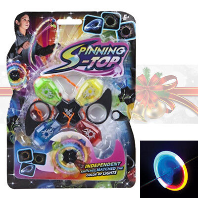 PMS LED Light Up Quad Spinning Wheel Cyclone Spinner Christmas Xmas Stocking Toy