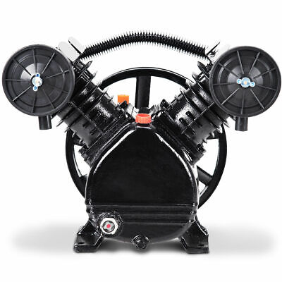 3hp 2 Piston V Style Twin Cylinder Air Compressor Pump Motor Head Air Tool New