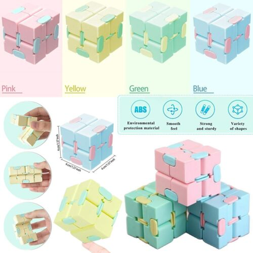 Kids Sensory Infinity Fidget Cube Stress Toy Gift Game For Autism Anxiety Relief Games