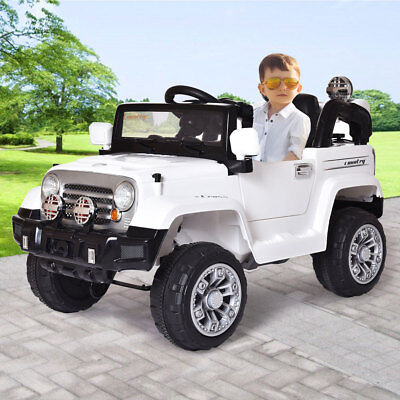 12V Kids Ride on Truck Car Battery Powered Electric Car W/ RC Control LED lights