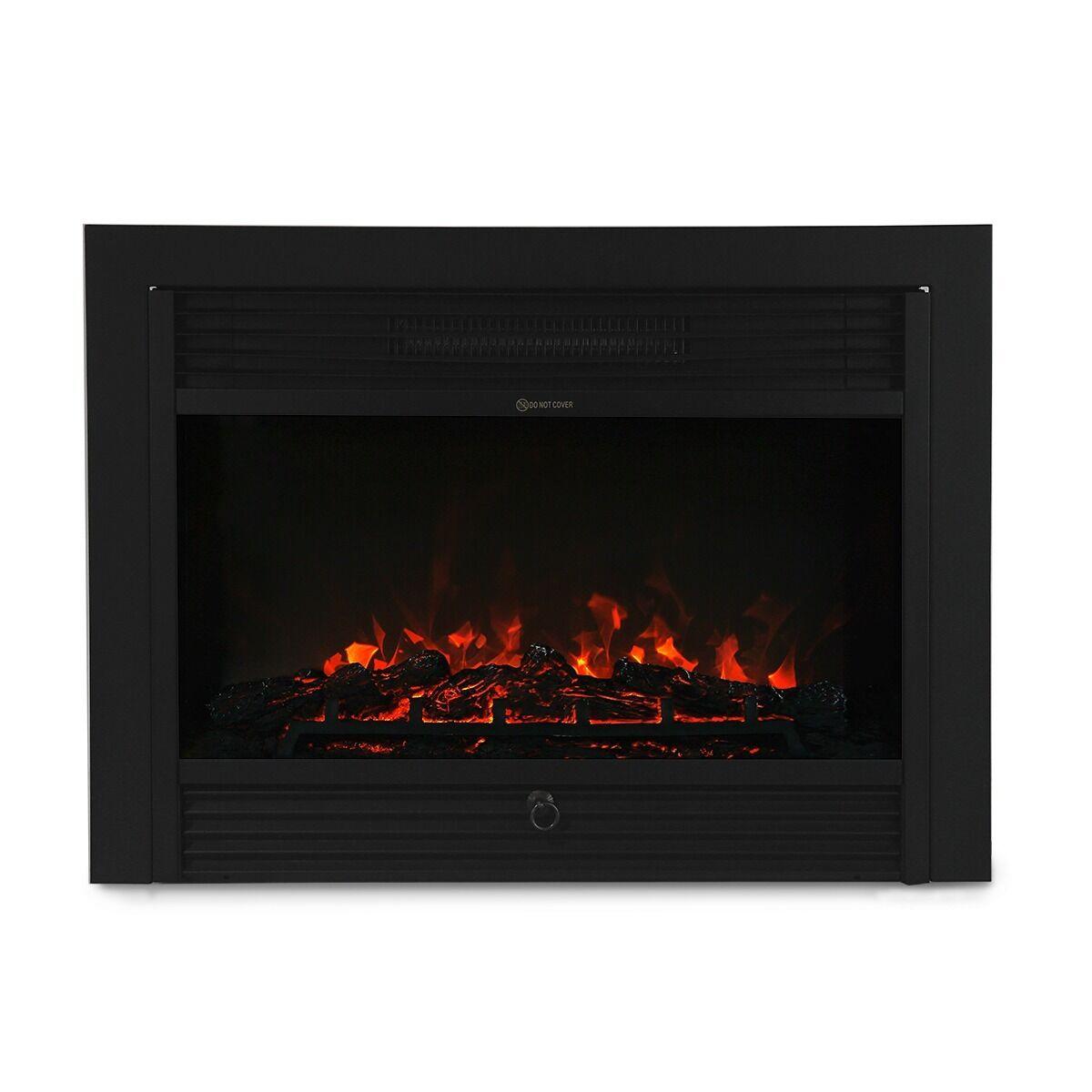 28 5 Embedded Electric Fireplace Insert Heater Remote Realistic Wood Log Glow Ebay
