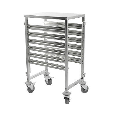 iMettos - Racking Trolley 6 Shelves with Work Table Top for GN Pan 1/1