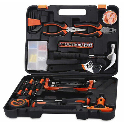82 X Household Hand Tool Kit Spanner Pliers Socket Set Hammer Saw Car Home + Box