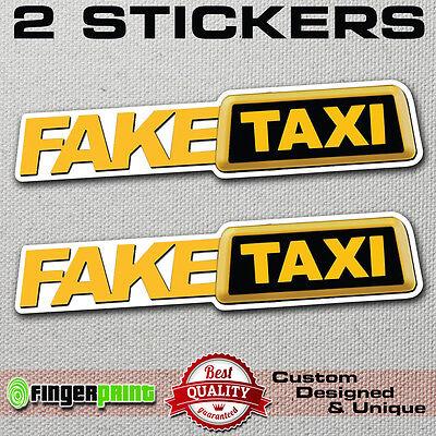 Fake Taxi Faketaxi Sticker Vinyl Decal Bumper Window Funny Oem Dub Jdm Fun Vag