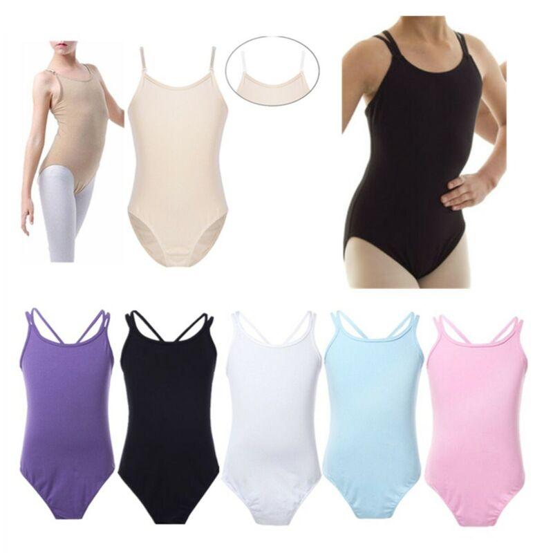Baby Girls Kids Ballet Leotard Dance Dress Gymnastics Costume Camisole Jumpsuit