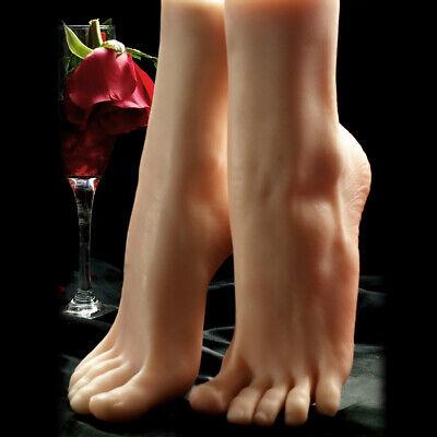 One Piece Leftright Lifelike Female Feet Shoes Displays Model Legs Mannequin 36