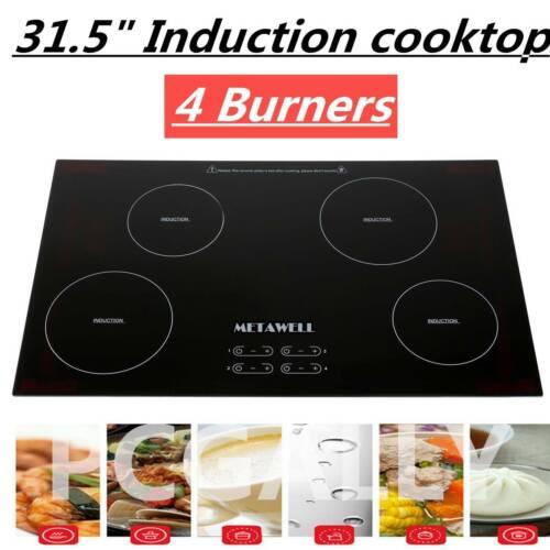 31.5 Inch 240V Induction Hob 4 Burner A-grade Glass Plate El