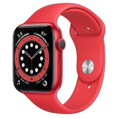 NUOVO-Apple Watch Series 6 GPS 44mm RED Sport Band RED Aluminum Case