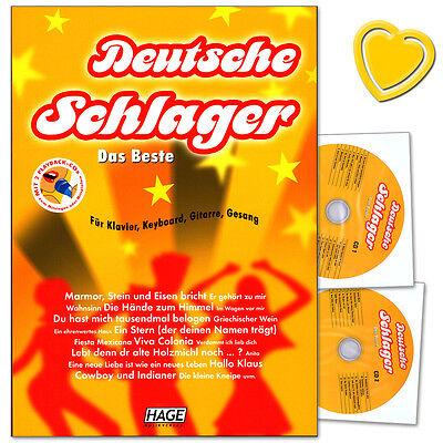 Deutsche Schlager Das Beste - Songbook mit 2 CDs - Hage - EH3705 - 9783866260597