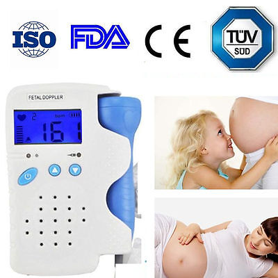 Fetal Doppler Heart Detector Baby Sound Heart Monitor 3mhz Probe Usa Seller Fast