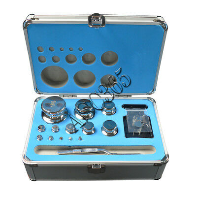 F1 Grade 1mg-1kg Precision Stainless Steel Scale Calibration Weight Kit Set
