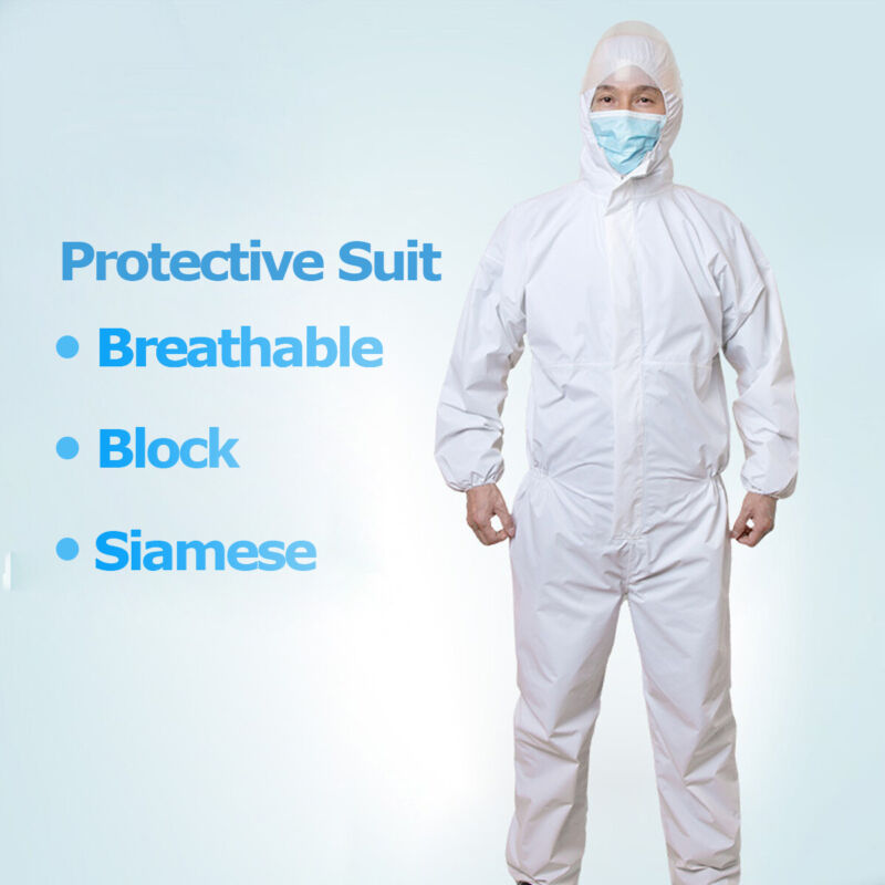 Disposable Coveralls Clothing Protective Safety Overalls Suit Full Protection