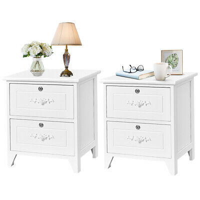 2 pcs wood elegant night stands w