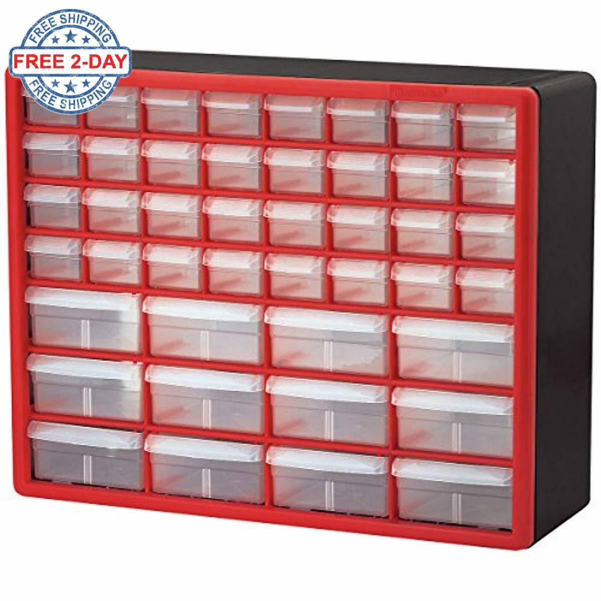 Details About Small Parts Storage Cabinet Drawer Bin Organizer Box 44 Drawers Bins Craft