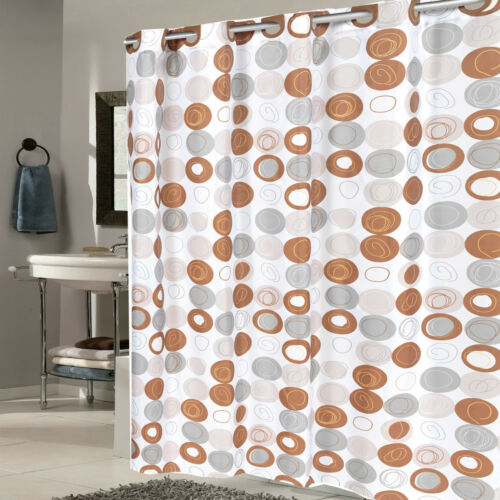 EZ On Fabric Shower Curtain Madison With Built in Hooks 70″x75″ Bath
