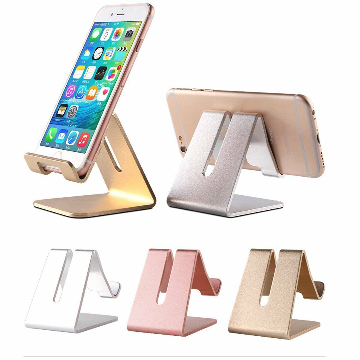 Universal Generic Aluminum Cell Phone Desk Stand Holder For Phone and Tablet New Cell Phone Accessories