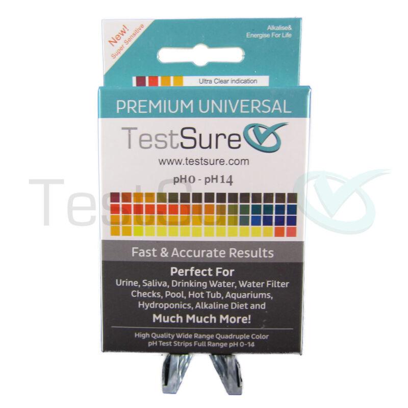 2 TestSure pH Test Strips Box for Water, Soil & More (100/box) pH Range 0 - 14