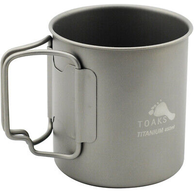 TOAKS Titanium Lightweight 450ml Double Wall Cup CUP-450-DW - Outdoor Camping ()