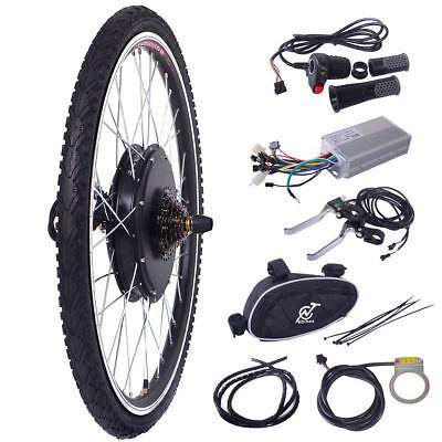 "48V 1000W Electric Bicycle Cycle E Bike 26"" Rear Wheel Conversion Kit Hub Motor"