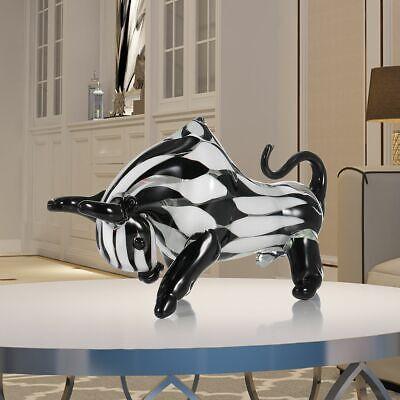 Cattle Glass Wall Sculpture Modern Statue Abstract Art Home Decoration gift Z4H7