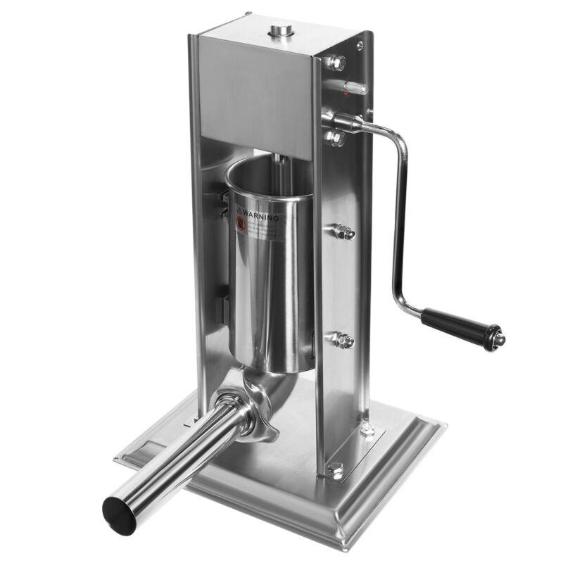 5Lbs Sausage Vertical Stuffer Sausage Maker Machine Hand Crank Stainless Steel