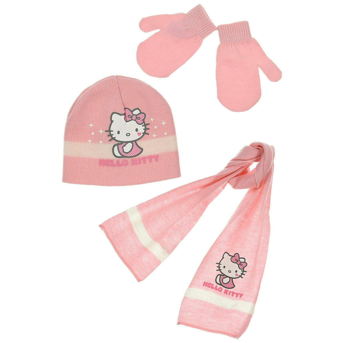 lot bonnet + gants + écharpe HELLO KITTY