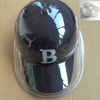 (Plastic Clear Baseball Football Cap Dustproof Hat Display Case Holder Protector)