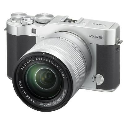 Fujifilm X-A3 Mirrorless Camera with XC 16-50mm OIS II Lens, Silver #600019751