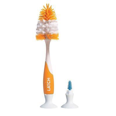 Baby Milk Bottle Teat Valve Brush Easy Clean Stand Latch Orange