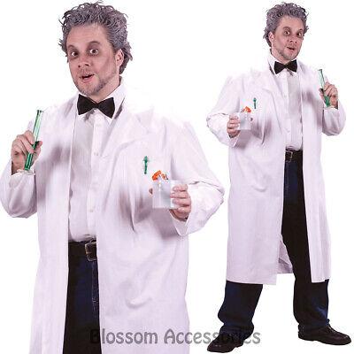 CL779 Mad Scientist Evil Doctor White Coat Lab Einstein Halloween Mens Costume