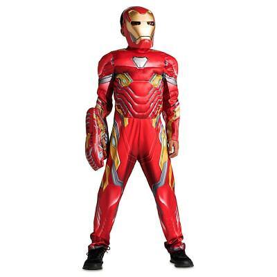 Disney Marvel Avengers Iron Man Costume 3pc Set for Kids w/ Sounds Size 5/6 & 13](Iron Man 3 Kids Costume)