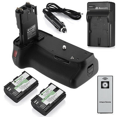 Bg-e9 Battery Grip For Canon Eos 60d/60da + 2 Lp-e6 Battery + Charger +ir Remote