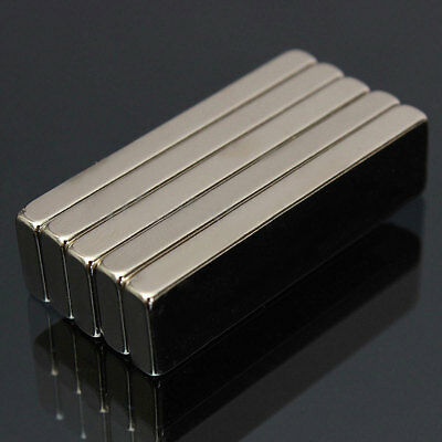 50pcs Big Strong Block Bar Fridge Magnets N50 40 X 10 X 4mm Rare Earth Neodymium