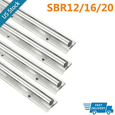 Linear Slide Rail Sbr 121620mm L300-1500mm 2x Linear Guideway Rail For Cnc
