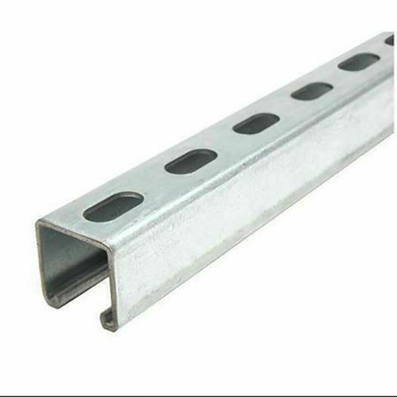 "Galvanized Steel, Slotted Strut Channel, 1-5/8"" x 1-5/8"" x 12 ga. x 36 inches"