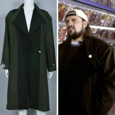 Jay and Silent Bob Strike Back Cosplay Costume Trench Coat Outfit Long Jacket!](Silent Bob Costume)