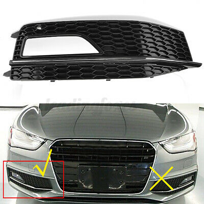 for Audi A4 B8 S-line S4 12-15 Right Driver Side Front Fog Light Grill Cover UK for sale  United Kingdom