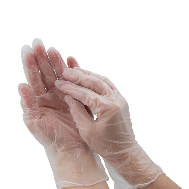 100pk Vinyl Disposable Gloves Powder Free Hand General Purpose
