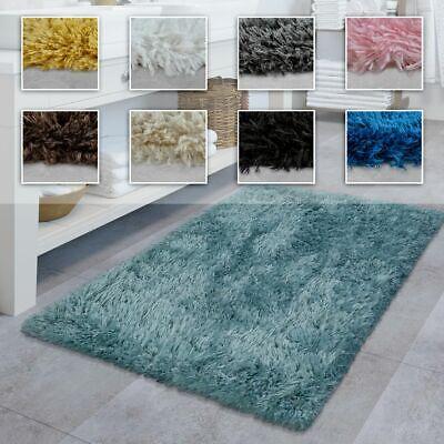 Badezimmer Teppich Hochflor Badematte Modern Weich In Versch. Farben u. Größen