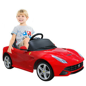 12V Ferrari F12 Licensed Kids Ride On Car RC Electric MP3 Remote Control Red New
