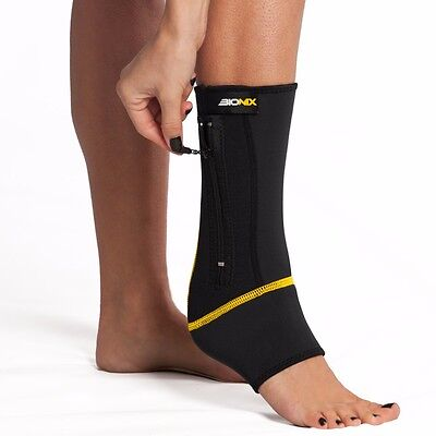 Adjustable Ankle Compression Sleeve Support Brace Foot Injury Bandage Wrap Strap