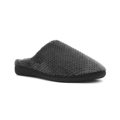 The Slipper Company Mens Grey Soft Touch Mule Slippers with Hard Sole