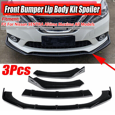 Gloss Black Front Bumper Lip Spoiler For Nissan SENTRA Altima Maxima Skyline