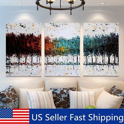 3Pcs Modern Abstract Canvas Print Painting Picture Wall Oil Home Decor Framed